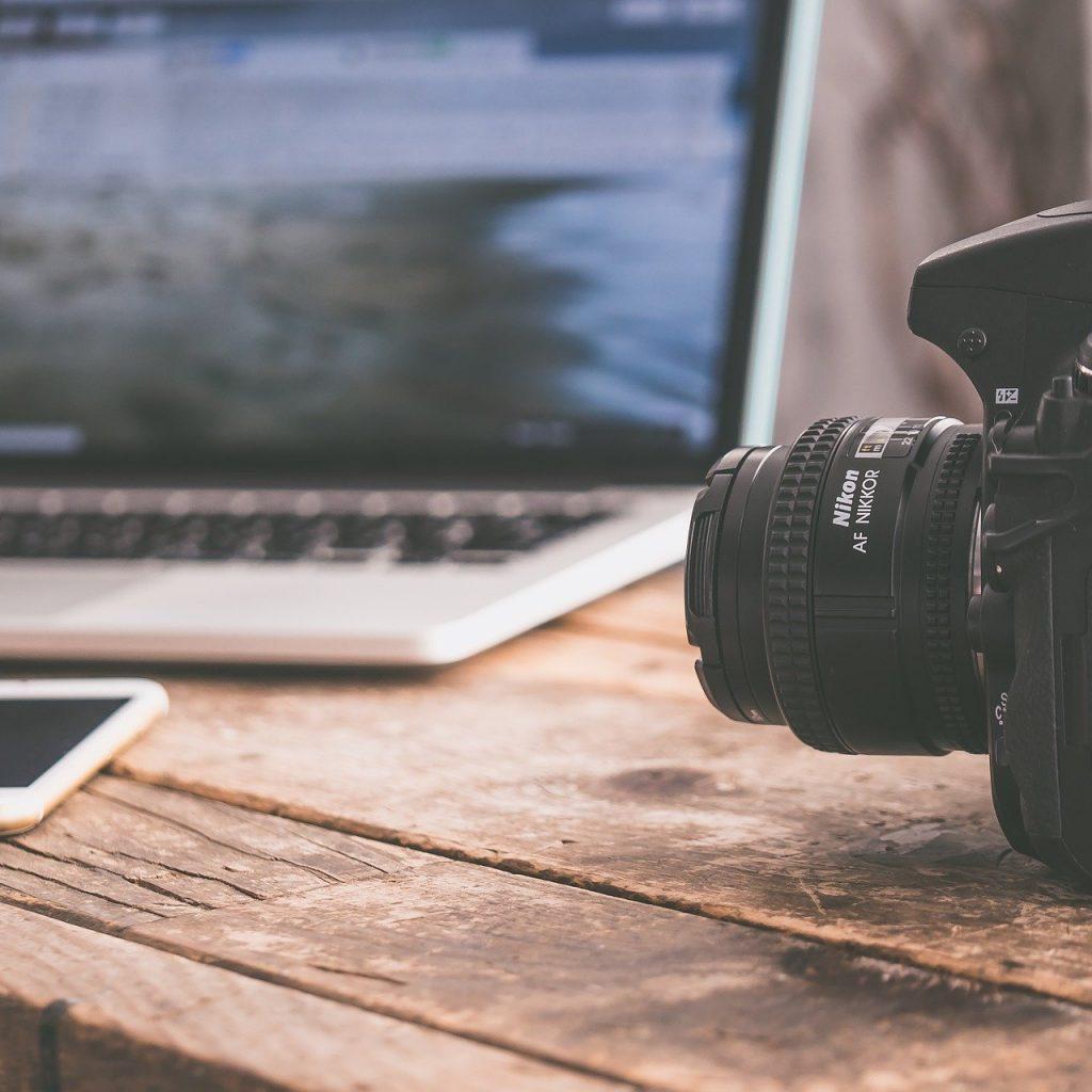 Fotoapparat-Laptop